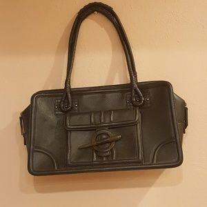 Beautiful Dark Brown Leather Purse Handbag Perfect